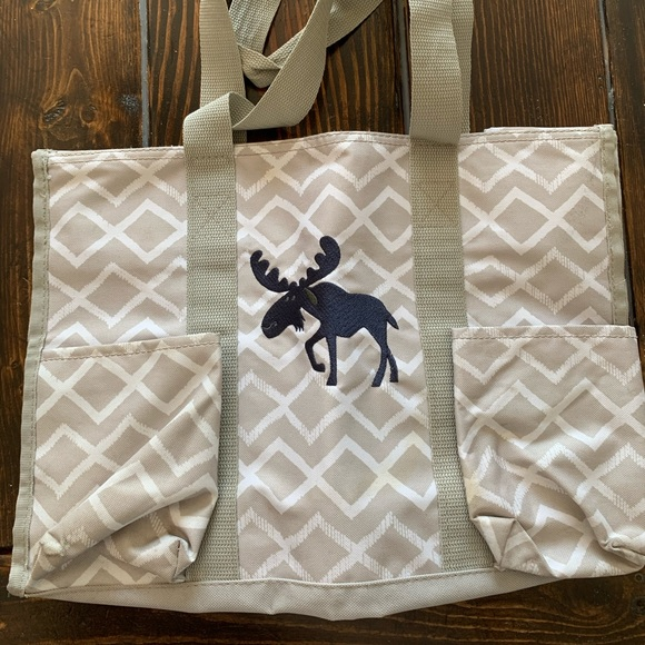 Thirty one top zip utility tote